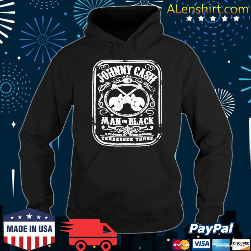 The Man In Black Johnny Arts Cash Essential Distressed Shirt Hoodie