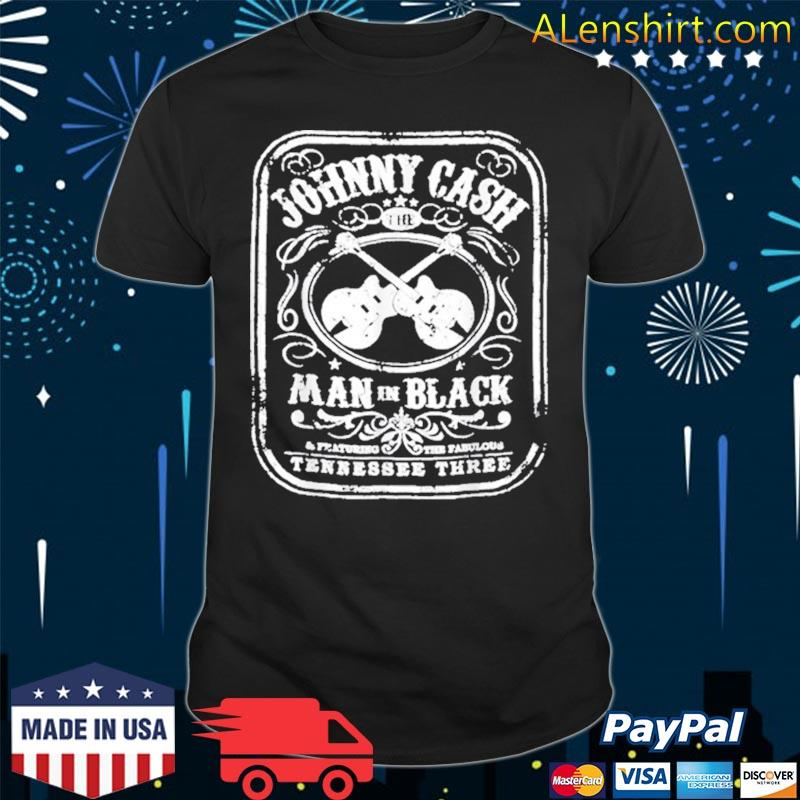 The Man In Black Johnny Arts Cash Essential Distressed Shirt