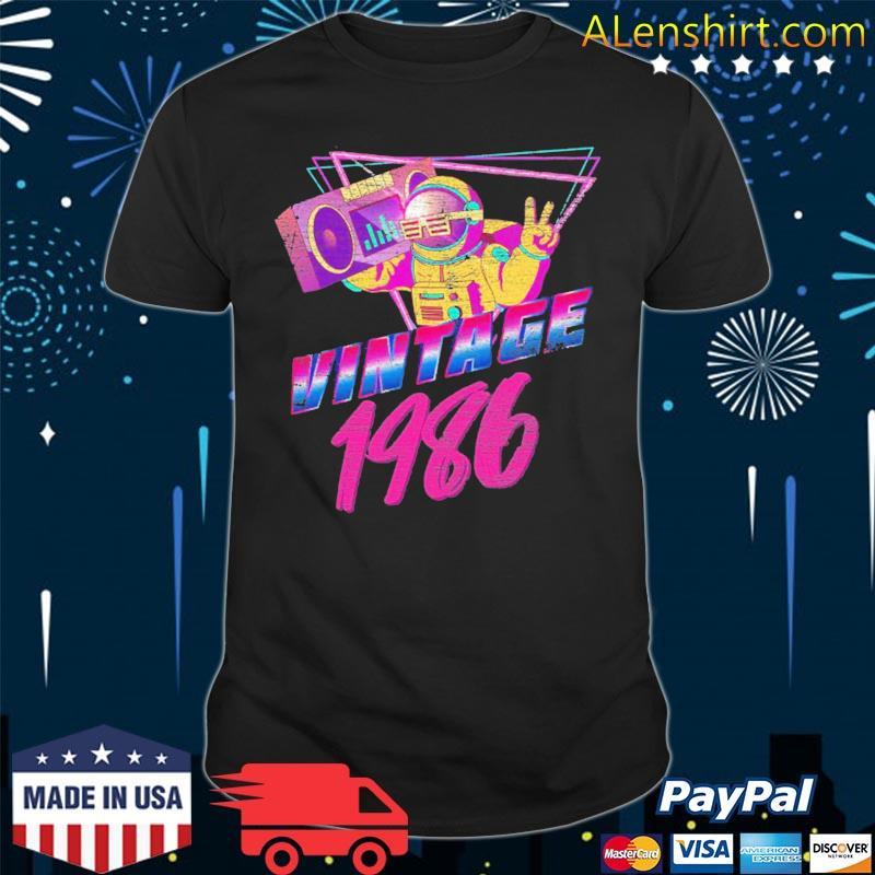 35th birthday vintage 1986 ver2 shirt