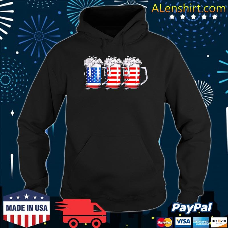 4th of july for men beer American flag women drinking s Hoodie