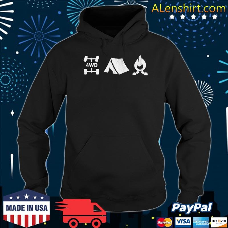 4wd overland exploring 4x4 tent camp fire s Hoodie