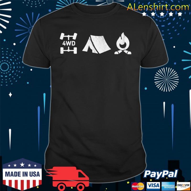 4wd overland exploring 4x4 tent camp fire shirt