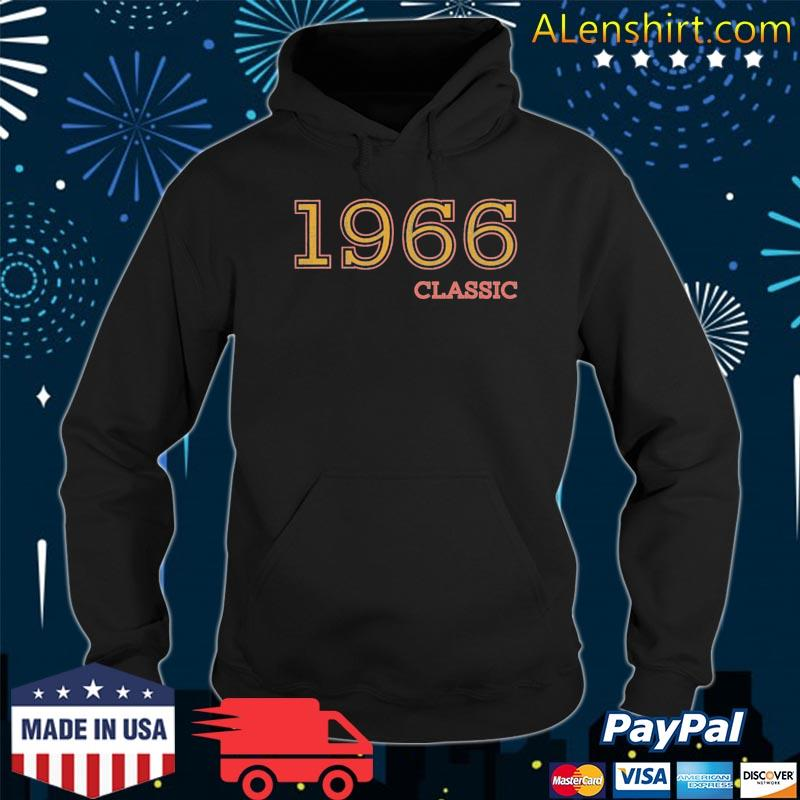 55th birthday vintage classic 1966 idea s Hoodie