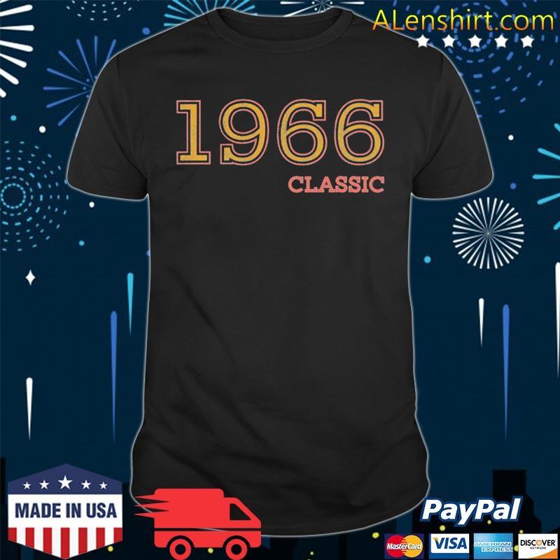 55th birthday vintage classic 1966 idea shirt