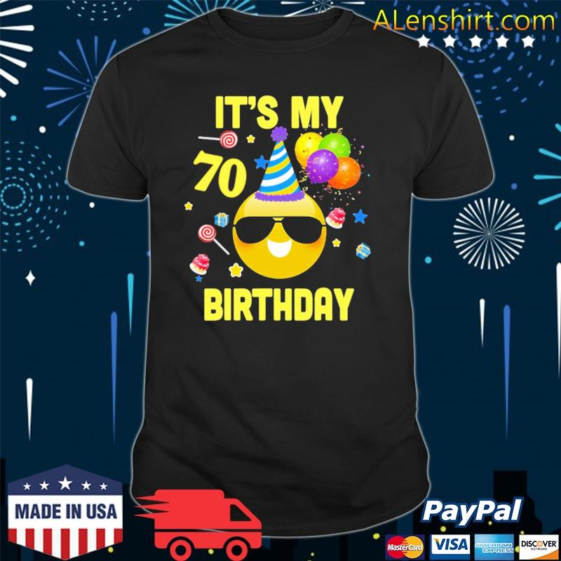 70th birthday it's my birthday 70 years old wy27 ver2 shirt