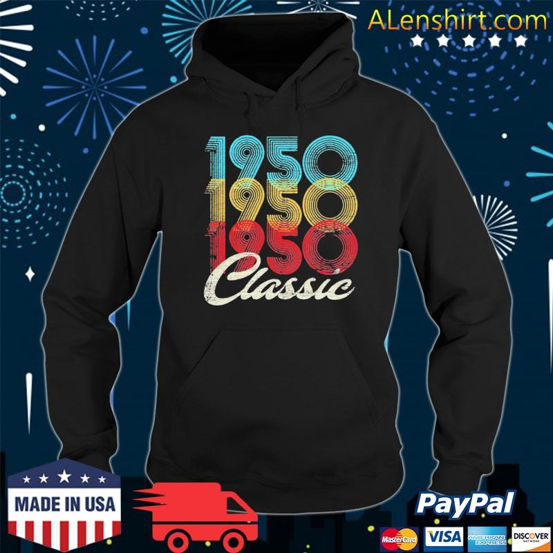 71st birthday year old classic 1950 ver2 s Hoodie