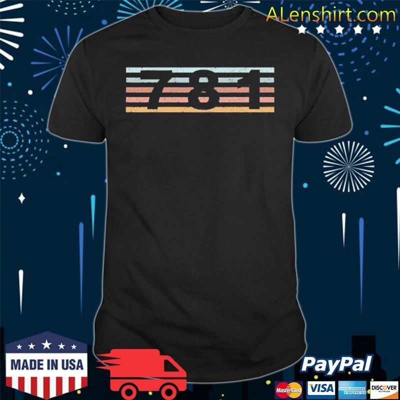 781 area code retro Massachusetts sharon shirt