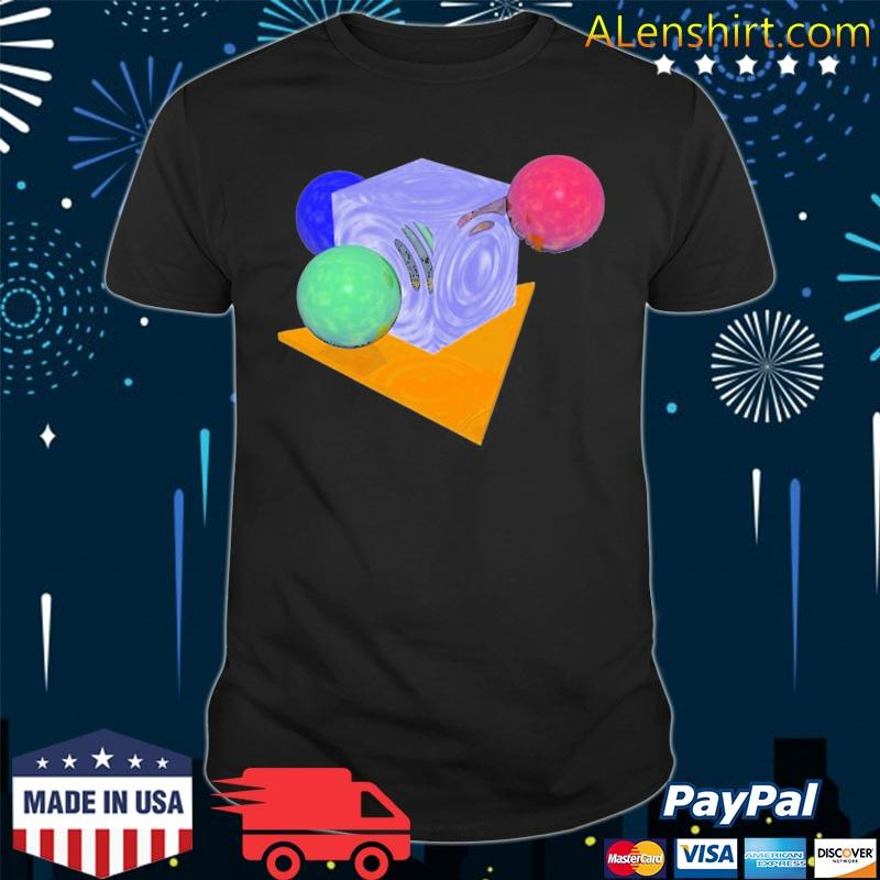 90s computer geometry abstract vaporwave shirt