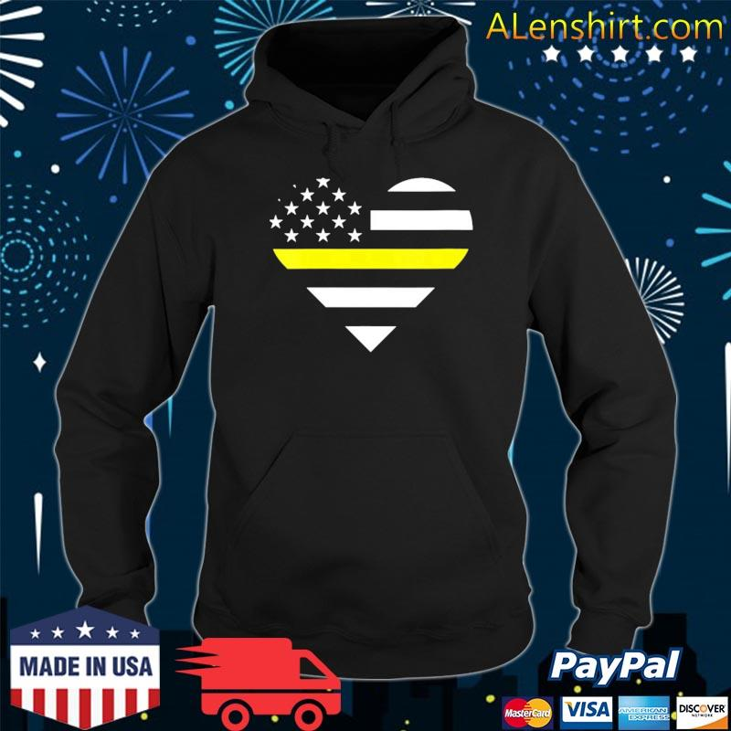 911 dispatcher heart usa flag thin line 911 dispatch gifts s Hoodie