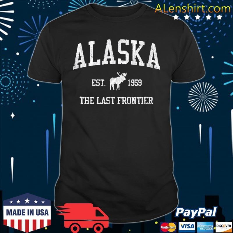 Alaska vintage sports design alaskan moose shirt