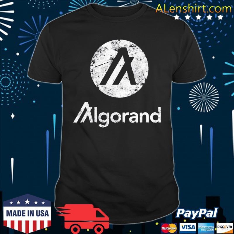 Algorand crypto blockchain algo token distressed vintage shirt