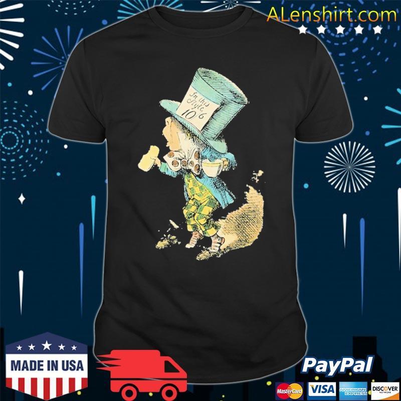 Alice in wonderland mad hatter vintage illustration shirt