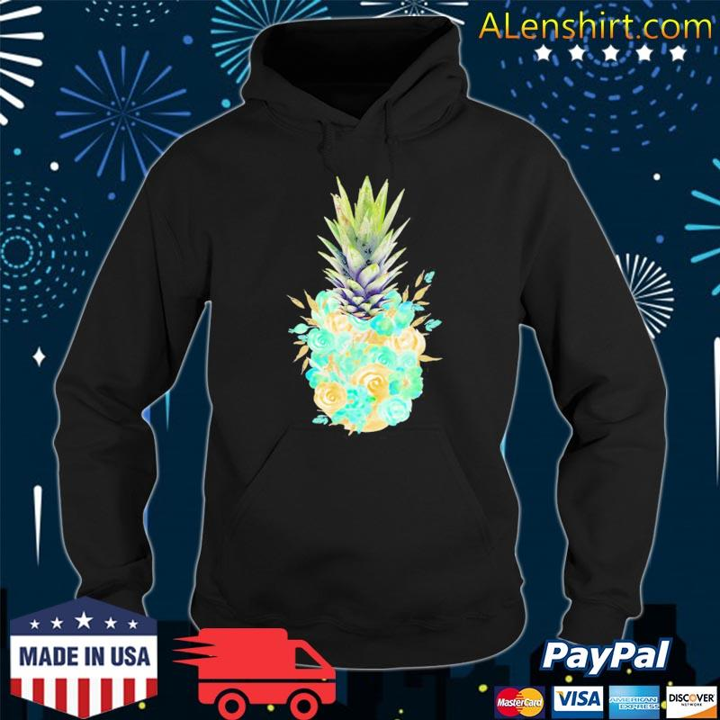 Aloha hawaiI cute pineapple tropical flowers hawaiian s Hoodie