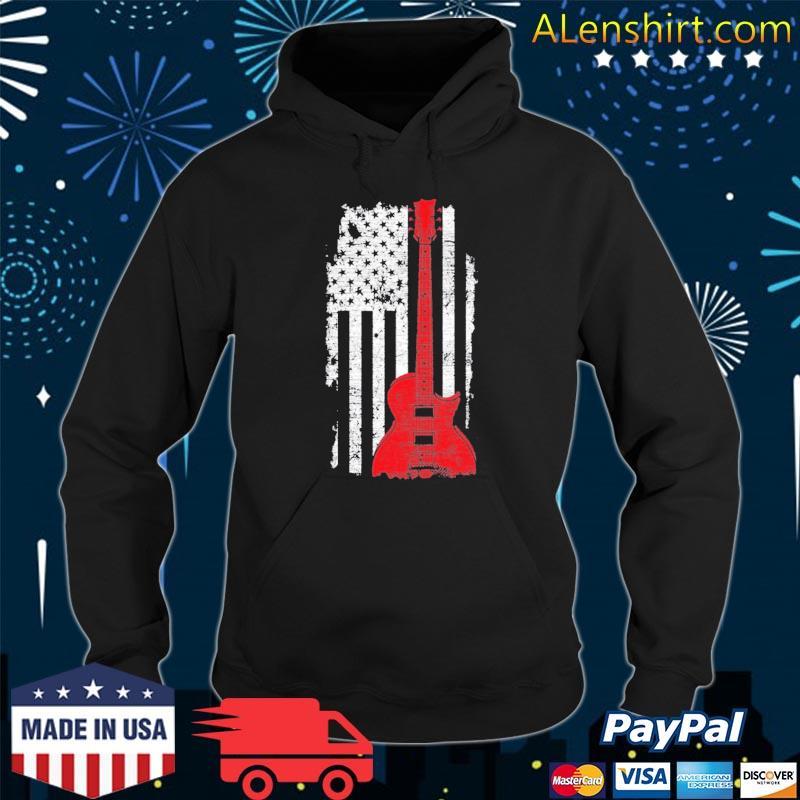 America guitarist music usa flag guitar s Hoodie
