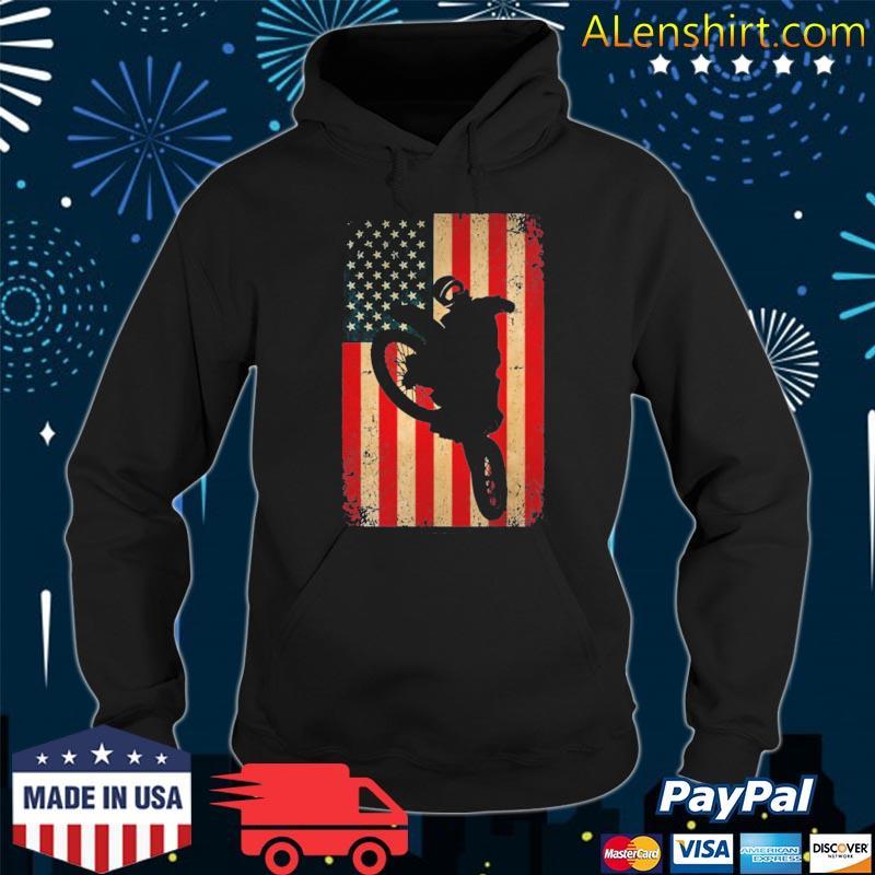American flag motorcross dirt bike braap s Hoodie