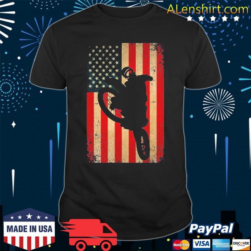 American flag motorcross dirt bike braap shirt