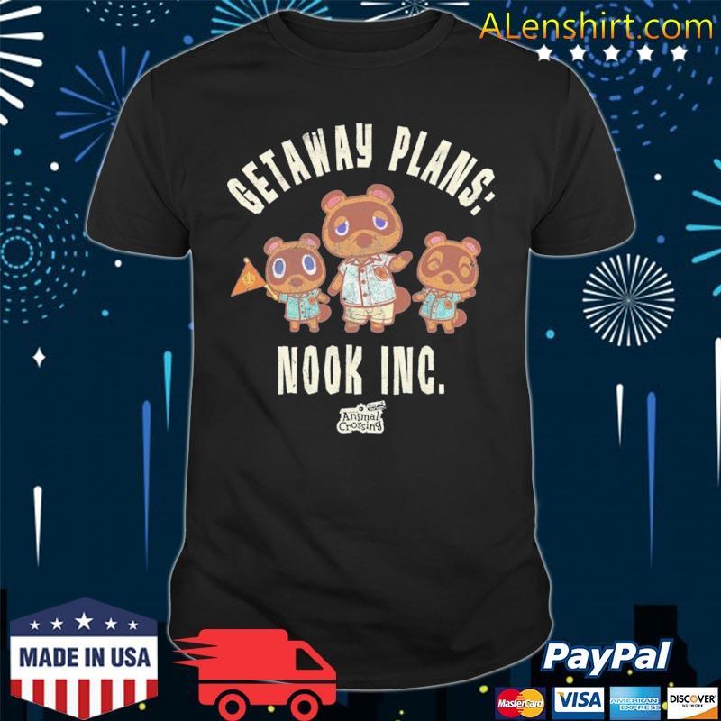 Animal crossing new horizons getaway plans nook inc shirt