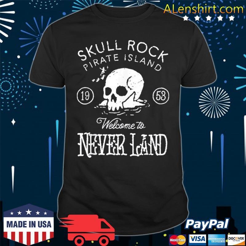 Peter pan skull rock welcome to never land shirt