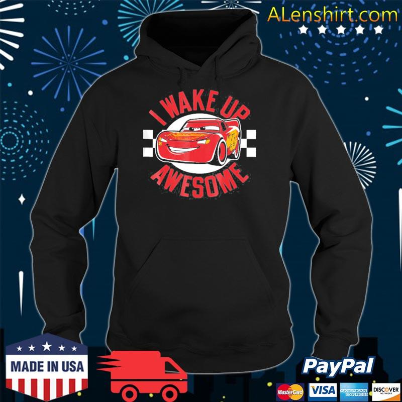 Pixar cars 3 mcqueen wake up awesome graphic s hoodie