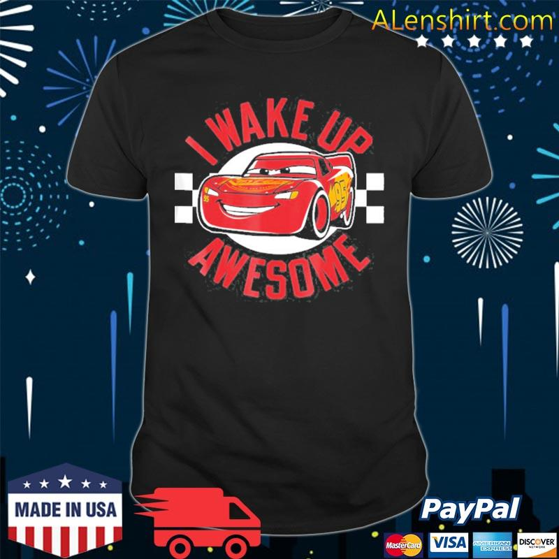 Pixar cars 3 mcqueen wake up awesome graphic shirt