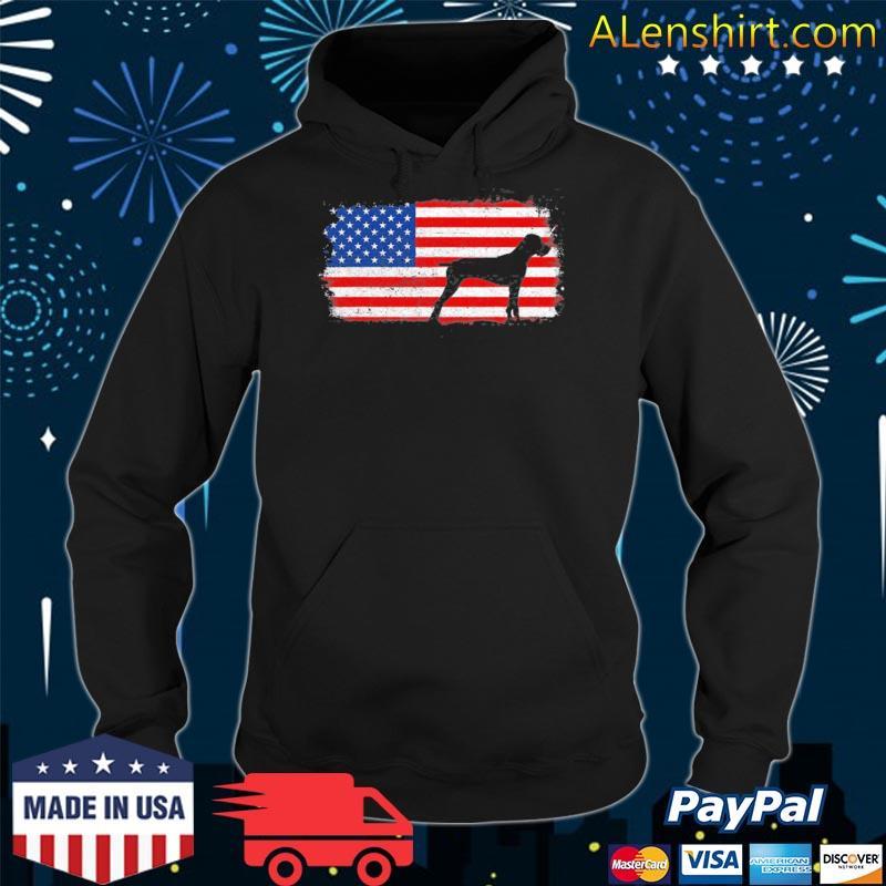 Pudelpointer patriotic American flag vintage s hoodie