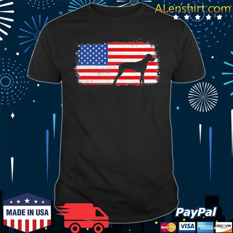 Pudelpointer patriotic American flag vintage shirt