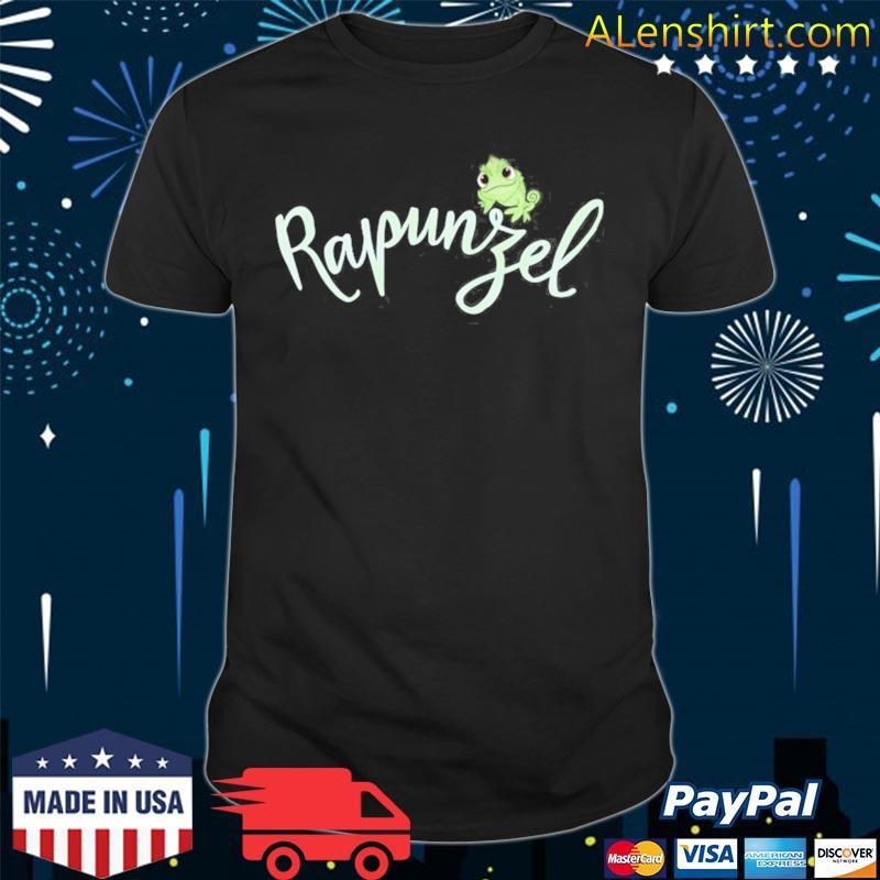 Tangled pascal on rapunzel cursive text shirt