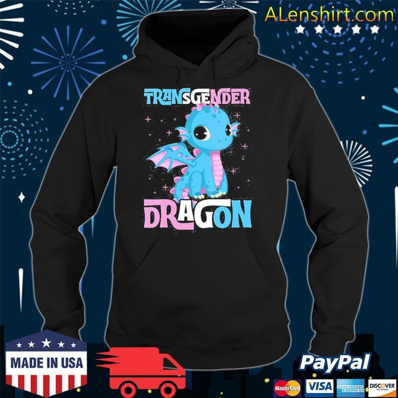 Transgender dragon cute trans pride flag gay stuff forns s hoodie