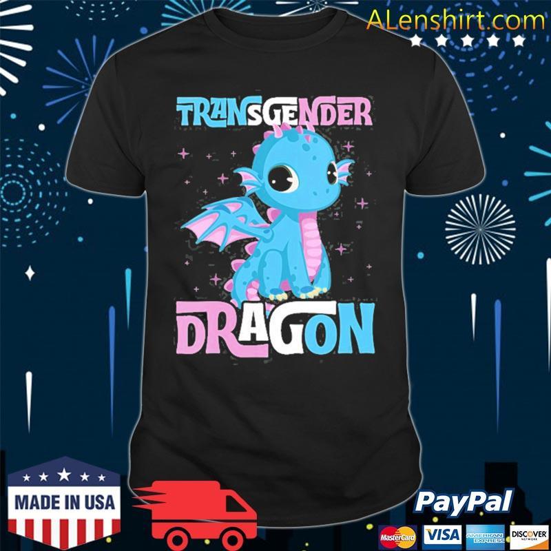 Transgender dragon cute trans pride flag gay stuff forns shirt