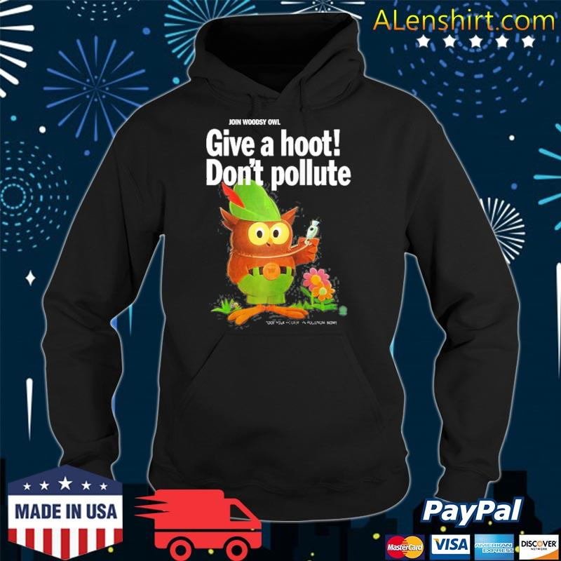 Woodsy owl retro give a hoot don't pollute raglan baseball s hoodie