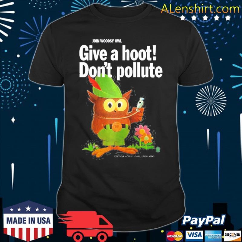 Woodsy owl retro give a hoot don't pollute raglan baseball shirt