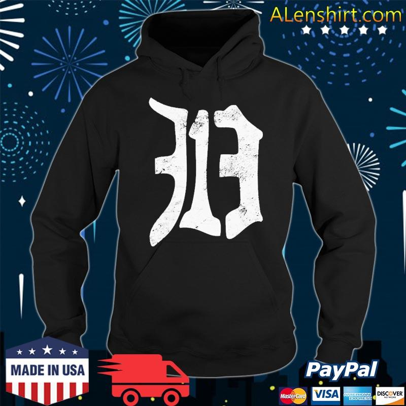 Detroit 313 Vintage Old English D Area Code Shirt Hoodie