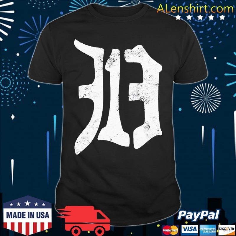 Detroit 313 Vintage Old English D Area Code Shirt