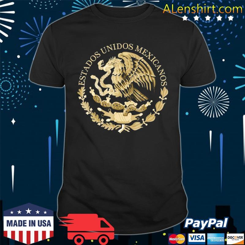 Mexico Coat Of Arms Flag Seal – Alt Tee Color Option Shirt