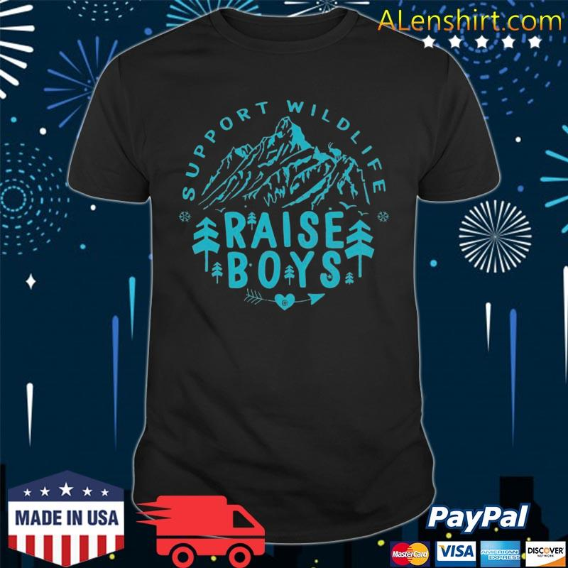 Mothers Day Support Wildlife Raise Boys Mom Dad Parents Gift Shirt