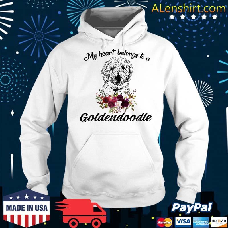 My Heart Belong To A Golden Doodle Dog Shirt Hoodie