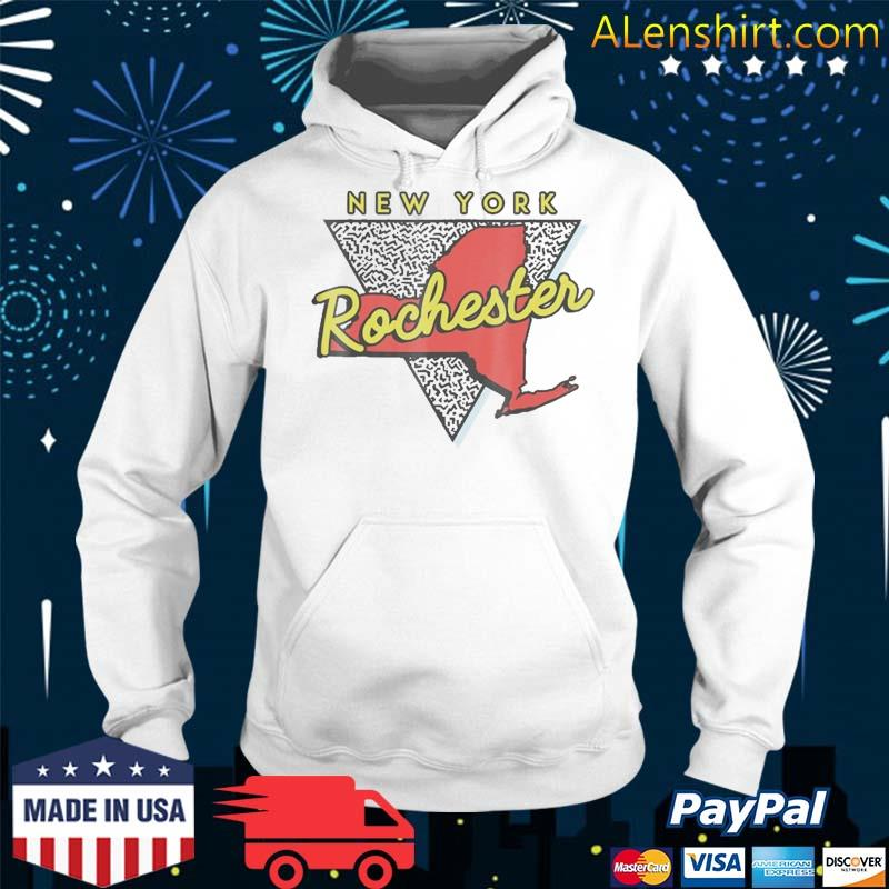 Rochester New York Vintage Triangle Shirt Hoodie