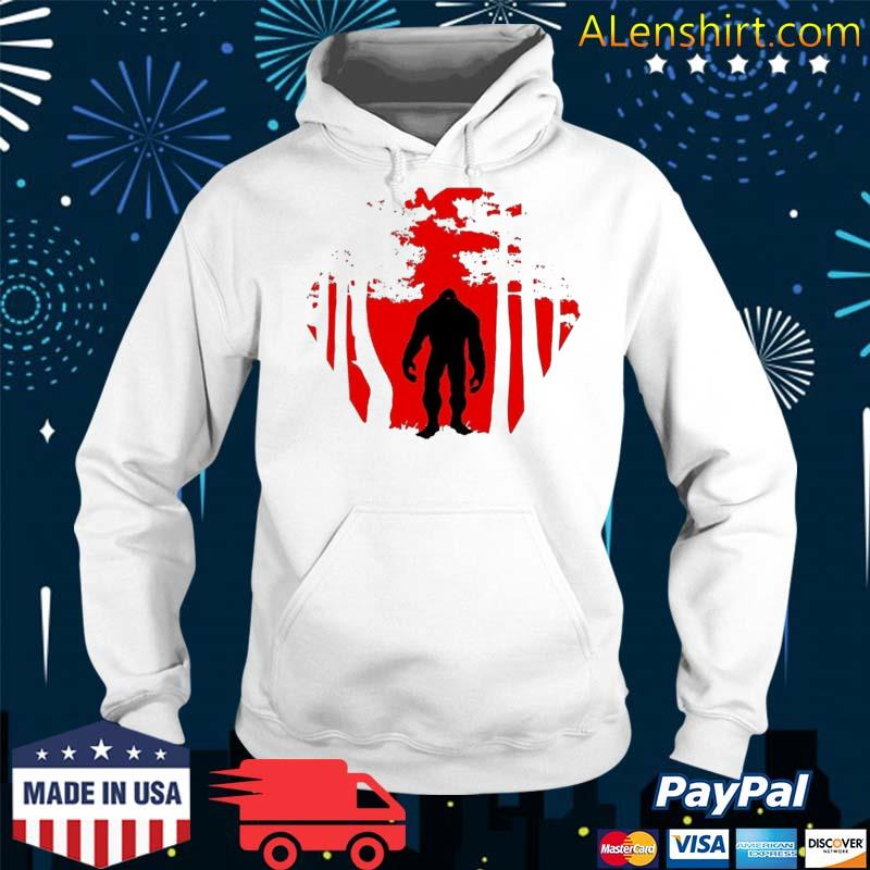 Scary Bigfoot In The Woods Shirt Hoodie