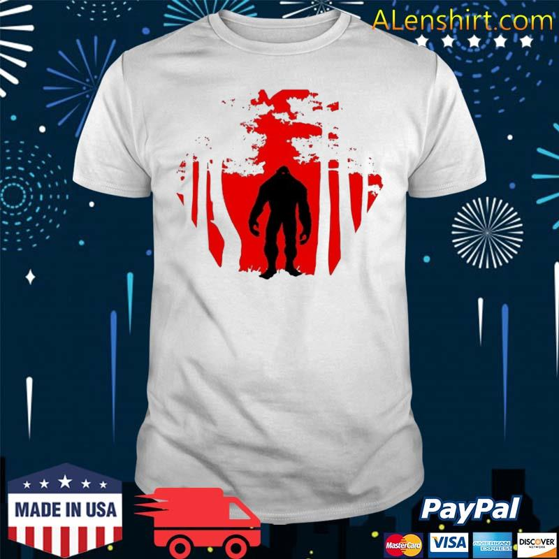 Scary Bigfoot In The Woods Shirt