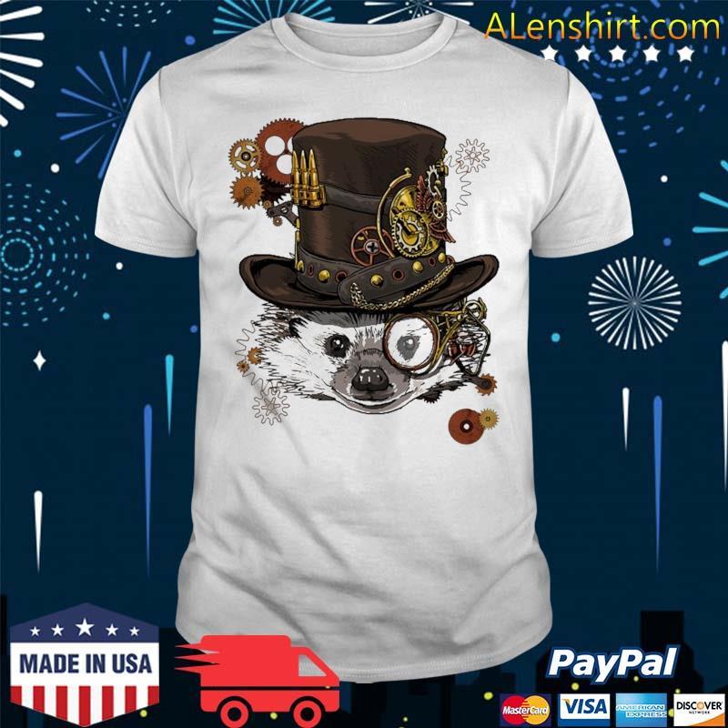 Steampunk Hedgehog Steampunk Animal Lovers Shirt