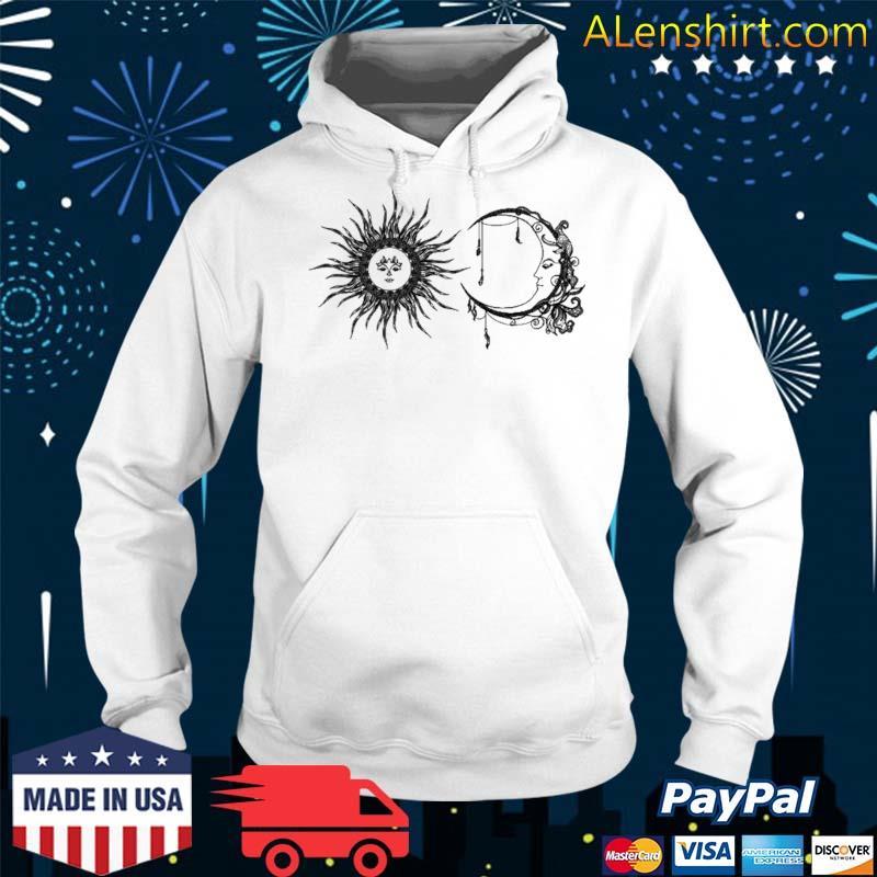 Sun And Moon Boho Hippie Celestial Line Art Aesthetic Top Shirt Hoodie