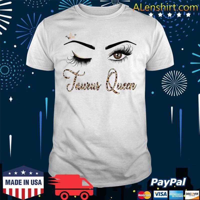 Taurus Zodiac Birthday Leopard Print For Girls Shirt