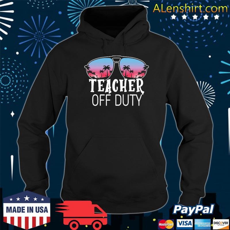 Teacher Off Duty Sunglasses Beach Sunset Vintage Retro Shirt Hoodie