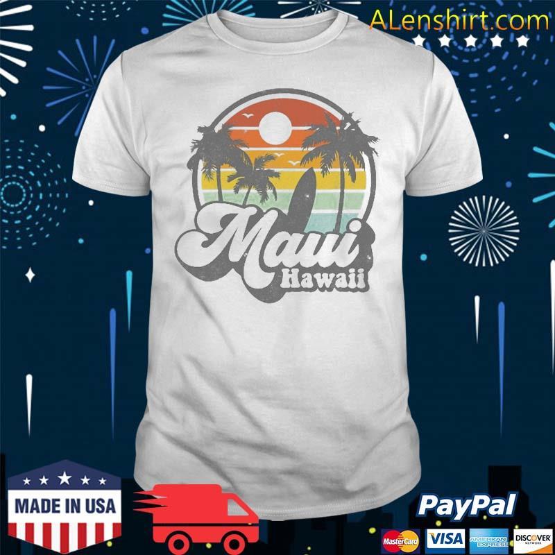 Vintage Maui Hawaii Hawaiian Beach Surfing 70'S Surf Gift Shirt