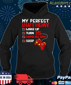 15th Perfect Birthday Gamer Gaming 15 Years Old Boys s Hoodie