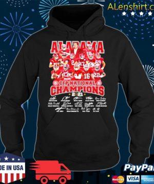 Alabama Cfp National Champions 2021 Signature Player Team Football s Hoodie