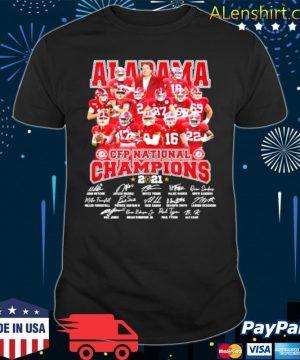 Alabama Cfp National Champions 2021 Signature Player Team Football shirt