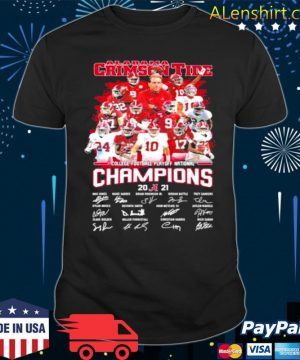 Alabama Crimson Tide Football Playoff National Champions 2021 Signature shirt