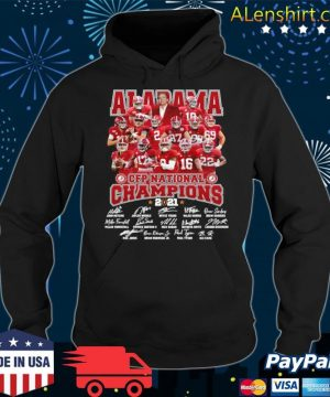 Alabama Crimson Tide Team Players Cfp National Champions 2021 Signatures s Hoodie