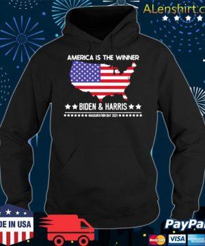 America is the winner Biden and Harris inauguration day 2021 s Hoodie